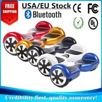Wholesale Music Boards - USA EU Stock Hover Board LED Scooters Smart Balancing Wheel Bluetooth Music Speaker Electric Skateboard Two Wheel 6.5 inch Drop Shipping