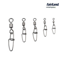 Wholesale Size Swivels Rolling - Wholesale 5000pcs lot Copper Rolling Swivel w  Stainless Steel Insurance Snap size 1 3 5 7 10# Mixed Fishing Hook Connector safety snap