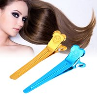 Pinces À Cheveux Métalliques Professionnelles Pas Cher-50PCS / Pack Professional Alloy Plastic Salon de coiffure Styling Section Hair Grip Clips