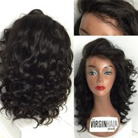 Wholesale grade 7a peruvian wavy wigs for sale - Group buy Brazilian Wavy Human Hair Wigs Grade A Glueless Full Lace Wigs Big Curly Hair Full Lace Wig