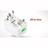 All-in-One-Universal-Stecker-Adapter World Travel AC / DC-Steckdose Ladegerät Adapter mit AU US UK EU Konverter Stecker