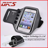 Wholesale Polka Dot 5c - Wholesale-Polka Dot Sport Gym Jogging Running Armband For Apple iPhone 5C