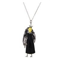 Wholesale Skull Jewelry Girls - Halloween Day Skull Doll Necklace Pendants New Fashion KeyChains Jewelry For Women Girl Styles Accessories Gifts Wholesale Retails