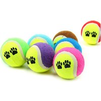 juguete de perro al por mayor-Al por mayor- snowshine3 # 3001 Pet Dog Cat Toy Vogue Pelotas de tenis Run Catch Throw Jugar Funny Chew Pets Toys # cydj #