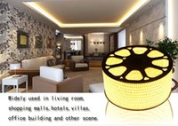 Wholesale Color Led Strip Water Proof - Free shipping for 220V led flexible strip SMD5050 water proof 60leds m 14.4W single color RGB 100m lot