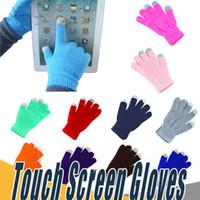 çoklu ekranlı telefon toptan satış-Sıcak Kış parmak Dokunmatik Ekran Eldiven Çok Amaçlı Unisex iPhone iPad Akıllı Telefon Için Kapasitif Noel Hediyesi