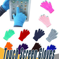 Wholesale Gloves For Ipad - Warm Winter finger Touch Screen Gloves Multi Purpose Unisex Capacitive Christmas Gift For iPhone iPad Smart Phone
