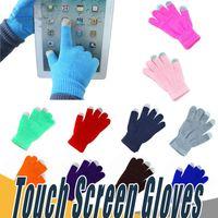 multi-screen-telefon großhandel-Warme Winter Finger Touch Screen Handschuhe Mehrzweck Unisex Kapazitive Weihnachtsgeschenk für iPhone iPad Smartphone