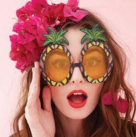 ananas sonnenbrille großhandel-Hawaii Beach Flamingo Ananas Sonnenbrille Brille Bachelorette Hen Night Stag Party Favors Karneval Party Dekoration G915