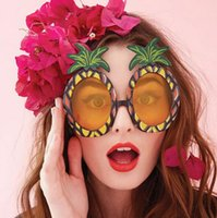Wholesale Sunglasses Carnival - Hawaii Beach Flamingo Pineapple Sunglasses Goggles Bachelorette Hen Night Stag Party Favors Carnival Party Decoration G915