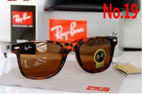 Wholesale Ben Fashion - 2017 Vintage Sunglasses RAY Men Women 50mm 54mm Brand Cat Eye Sun Glasses Bands BAIN Mirror Gafas de sol Lenses BEN BANS with cases