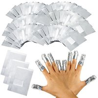 Wholesale Aluminium Wrap - 100Pcs Pack Aluminium Foil Nail Art Soak Off Acrylic Gel Polish Nail Removal Wraps Remover Makeup Tool Foil Wraps