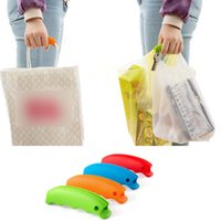 Wholesale Grocery Carrier - Simple Silicone Shopping Bag Basket Carrier Grocery Holder Handle Comfortable Grip Grips Effort-Save Body Mechanics Multi Color