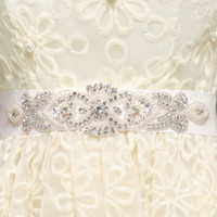 Wholesale Sash Rhinestone Crystal Belt - Babyonline Hand Made Beaded Crystals Bridal Sashes Free Shipping Bridal Belts For Bridal Wedding Gowns Occasion Dresses CPA785