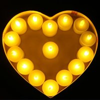 Wholesale Tea Light Battery Candles New - Flicker Tea Candles Light New LED Flameless Tealight Battery Operated for Wedding Birthday Party Christmas Decor CCA7549 2000pcs