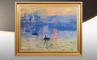Modern Landscape Art Paint Poster Claude Monet Impressionismo Sunrise Wall Picture Tela Pittura ad olio Home Decor