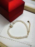 Wholesale Pearl Strands Wedding - New Fashion Women Wedding Jewlery Freshwater Pearl Bracelet Real Natural Pearl Beads Strand Bracelet Pearl Bracelets