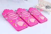 Wholesale Alice Iphone - New Soft Silicon Phone Back Cover Cartoon Alice Cat Cute Phone Case For Iphone 5 5S SE 5C 6 6S 6Plus 6SPlus