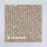 Wholesale Bathroom Marble Walls - ceramic and marble mosaic tile for bathroom and kitchen decoration wall tile floor tile 4 square meters per lot