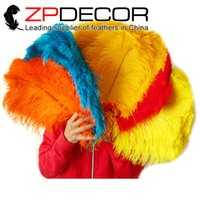 Wholesale Colored Ostrich Feathers Wholesale - Wholesale in ZPDECOR Factory Good Quality 40-45cm(16inch-18inch) Dyed Special Mix Colored Ostrich Feather Wedding Decorations