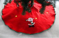 Wholesale Santa Skirts - 45cm Christmas Santa Tree Skirt Snowman Christmas Tree Ornament Skirts Vintage Non-woven Festive Party Xmas Tree Skirt Christmas Decorations