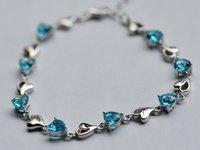 Wholesale Cheap Silver Rings Women - Wholesale 2016 New Fashion chain bracelet S925 stering silver bracelets Cheap and Hot crystal bracelets for women
