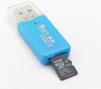 Wholesale Micro Tf 32 - High Speed Card Reader USB 2.0 Micro SD TF T-Flash Multi-functional Memory Card ReaderAdapter 16 32 64gb