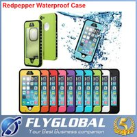 Wholesale Top Waterproof Iphone 5s Cases - Redpepper Waterproof Case with dots For Iphone 6S 6 Plus 5S 5C 4S Samsung Galaxy S6 S3 S4 S5 Note 5 4 3 Shock proof top quality