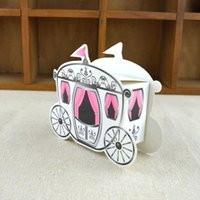 Wholesale romantic candy box online - Romantic Gift Paper Boxes Lovely Fairy Tale Pumpkin Carriage Candy Box For Wedding Party Supplies Popular wj C R