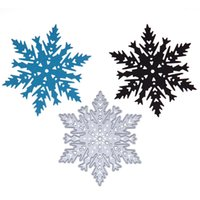 Wholesale Wholesale Paper Snowflake Decorations - Snowflake Christmas Metal Cutting Dies Stencils For Sizzix Shot DIY Scrapbooking Album Paper Cards Embossing Decorative Crafs