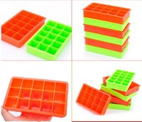 Silicone Place Ice Cube Tray Maker Mold Moules bonbons chocolat cuisson Gâteau Fruit Pudding Cocktail Bar Cola Pub Party 15 unités