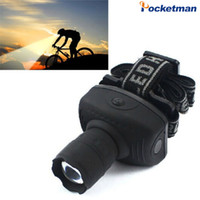 Wholesale Head Lamp Camping - Super Bright Mini LED Headlamp Flashlight Frontal Lantern Durable Zoomable Head Torch Light Bike Riding Lamp For Camping Hunting