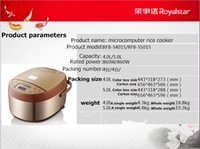Wholesale Pressure Technology - ROYALSTAR microcomputer multi-function electric meal in clay pot rice cooker 860 w micro pressure cooking technology making cakes produced