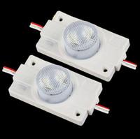 объектив с большой мощностью оптовых-2 Вт высокой мощности светодиодный модуль свет с объективом DC12V Sidelight светодиодный модуль задний свет для светодиодного знака световой короб светодиодные буквы канала