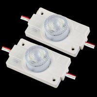 lente led de alta potencia al por mayor-2W LED de alta potencia módulo de luz con lente DC12V Sidelight LED módulo de luz trasera para LED Regístrate Caja de luz LED Cartas de canal