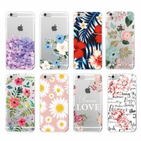 Wholesale Iphone Case Cherry Blossom - Village Floral Flowers Rose Daisy Cherry Blossom Soft TPU Transparent Clear Case for iPhone X 10 8 7 6 6s Plus 5S Galaxy S8 Plus Note 8