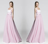 Wholesale Winter Girl Cute Images - Cute Pink Evening Dresses A Line Sleeveless Simply Chiffon Skirt Formal Girls Prom Cocktail Party Dress