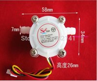 Wholesale Water Flow Control Switch - Wholesale-YF-S401 Water Flow Sensor Switch Meter Flowmeter Coffee Dispenser Counter Fluid Control 0.3-6L min