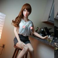 bonecas de tamanho humano venda por atacado-165 cm em tamanho natural boneca sexual de silicone, real da vagina e do peito, boneca humana real, metal esqueleto boneca do amor, produtos para adultos sex shop, 3-furos manequins
