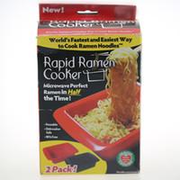 Wholesale Noodle Bowls - Hand-Pulled Noodles Bowl Red Black Microwave Quick Fast Microwave Ramen Noodles Bowl 2pcs Per Set 100pcs OOA2503