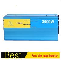 Wholesale Pure Sine Inverter 48v - CE EMC approved 3000W Pure Sine Wave Inverter 12 24 48V to 100 110 120 200 230 220V Car Power Inverter Digital Display