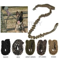 Wholesale Military Harness - Tactical Dog Leash Military Training Tactical Bungee Leash Combat US Amry Dog Lead Harness Collar Nylon Coyote 5 colors #4042