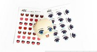 Wholesale Hot explosion models Clay Mouth water stickers diy Anime doll eyes sticker