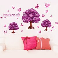 Wholesale Manufacturing Stickers - Hot Sale 2016 Wall Decal DIY Decoration Fashion Romantic Flower Wall Sticker   Wall Stickers Home Decor Manufacture Free Shipping