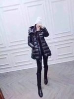 Wholesale Winter Coat Hood Parka - M160 French brand jacket parkas for women winter Ladies anorak coats hood parka New Style women jackets
