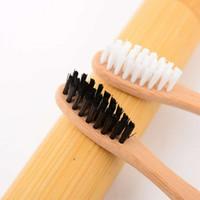 Wholesale Toothbrush Soft Bristle Dental - Perfect Bamboo Toothbrush Soft Natural Bristles Adult Size Natural Dental Care Black Bamboo Toothbrush Oral Brush Box package