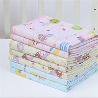 Wholesale Diapers Changing Mat - 4 Size Baby Infants Cotton Mat Burp Travel Washable Diaper Pad Reusable Urine Pad Waterproof Mattress Protector Changing Pad
