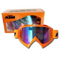 spor yarış camları toptan satış-Sıcak Satış KTM Motosiklet Gözlüğü Motocross Gözlük MOTO ATV Gafas Racing Koruyucu Dişli Bisiklet Paintball CS Spor Için Maske