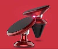 tablet için gps araba montajı toptan satış-Evrensel Manyetik Araç Telefonu Tutucu 360 Rotasyon GPS Cep Telefonu Mıknatıs dağı Araç Tutucu Standı Iphone Samsung Tablet-2 ...