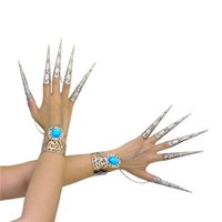 Wholesale Belly Dancing Nails - Of guanyin nails set of 10.3 cm Hole India belly dance bracelet Zhen Huan armor performance accessories